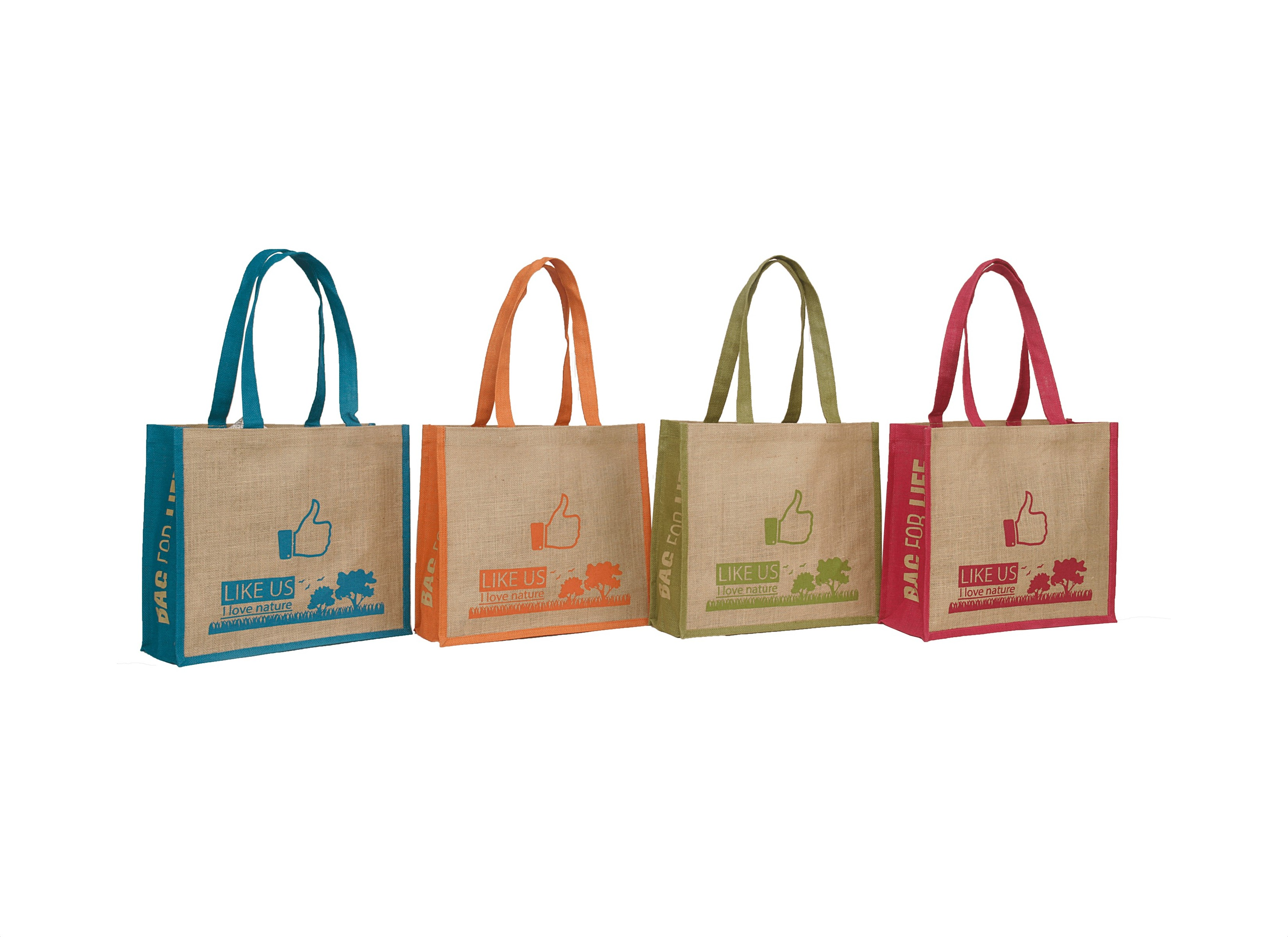 7a48498b1d3 Natural Jute Tote with Colored Gusset and Tape Handle - Everything Bags Inc.