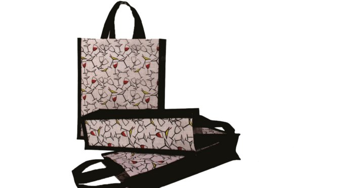 Eco-friendly Wine Bag with Colorful Print