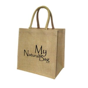 Single Colored Custom Burlap Bag with Padded Handle