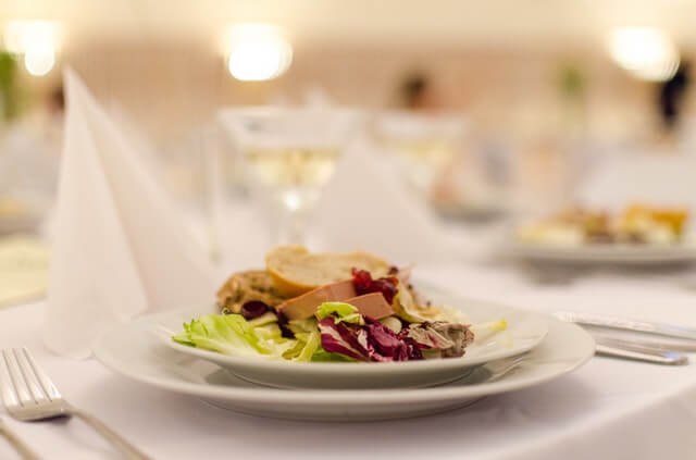 Organic food for wedding