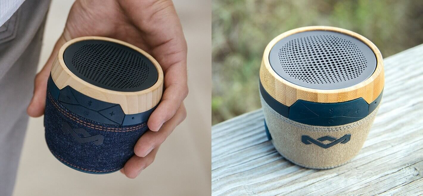 Eco-friendly portable bluetooth speakers
