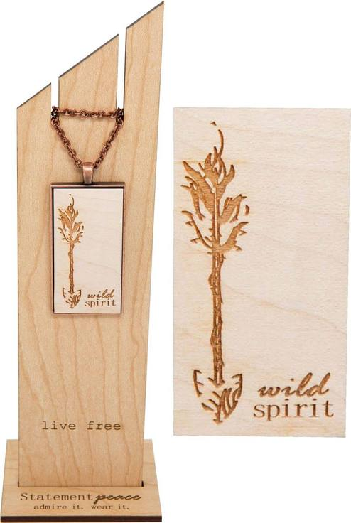 Eco-friendly wooden necklace