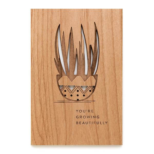 eco-friendly wooden card