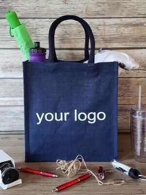 Promotional jute shopping bag