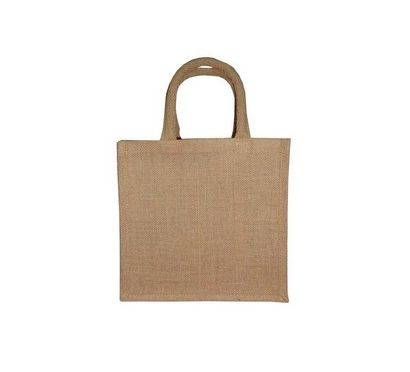 Natural Jute Bag with Cotton Padded Handle