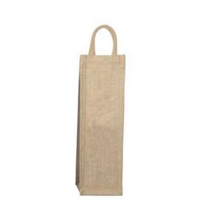 Natural Jute Wine Bottle Bag with Padded Handle