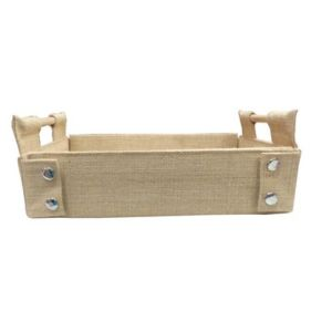 Decorative Jute Trays with Handles