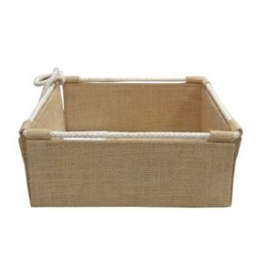 Jute Pull-string Trays Rectangle Shape