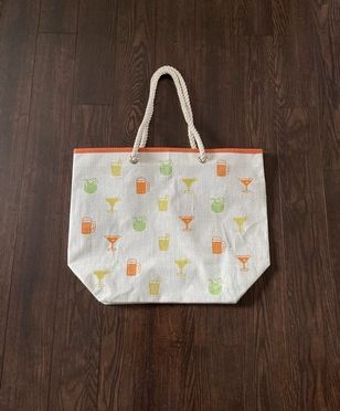 Summer Drinks Reusable Tote Bag