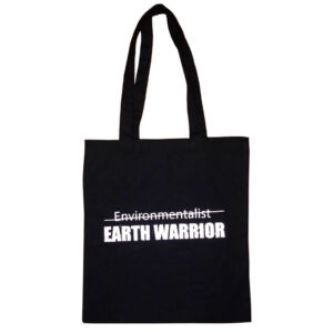 Earth Warrior Black Canvas Tote Bag