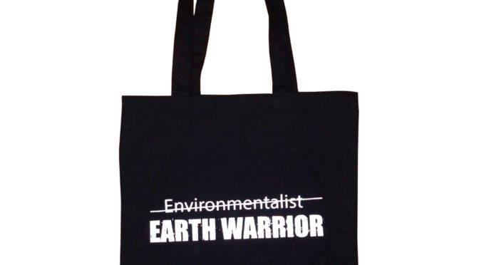 Earth Warrior Black Canvas Tote Bag