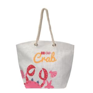 Oh Crab Jute Beach Bag