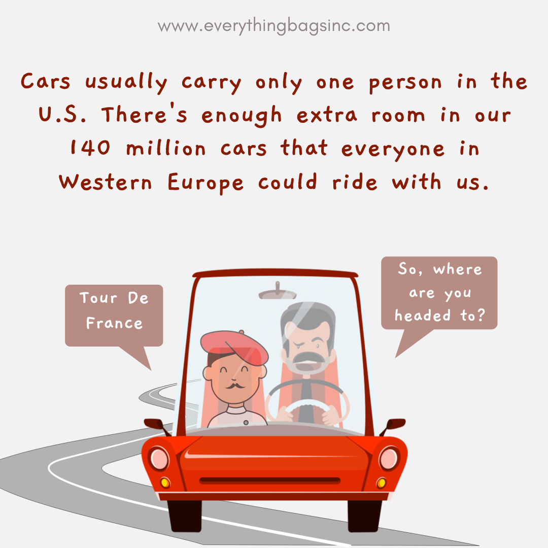 American and French man carpooling together