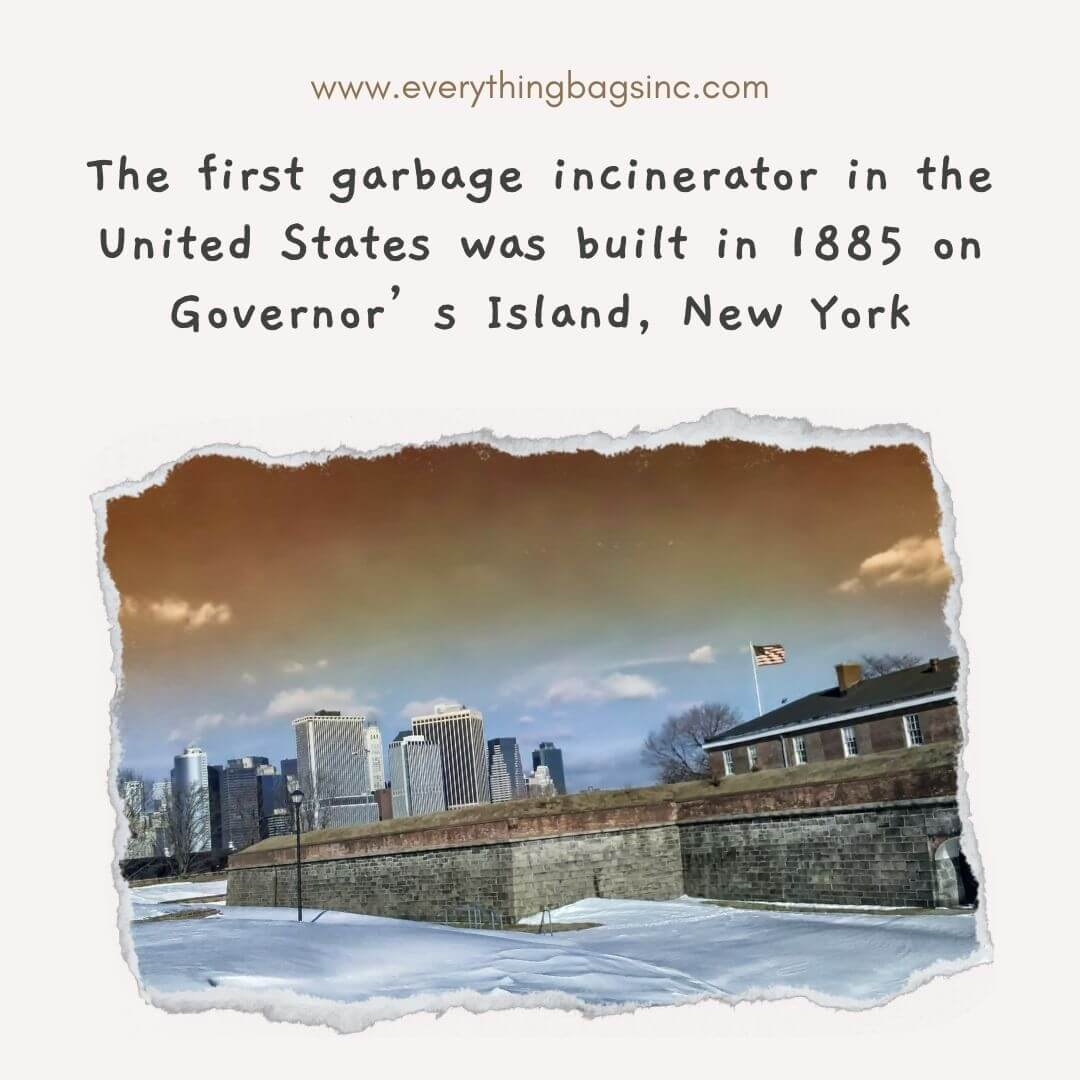 First garbage incinerator in the USA