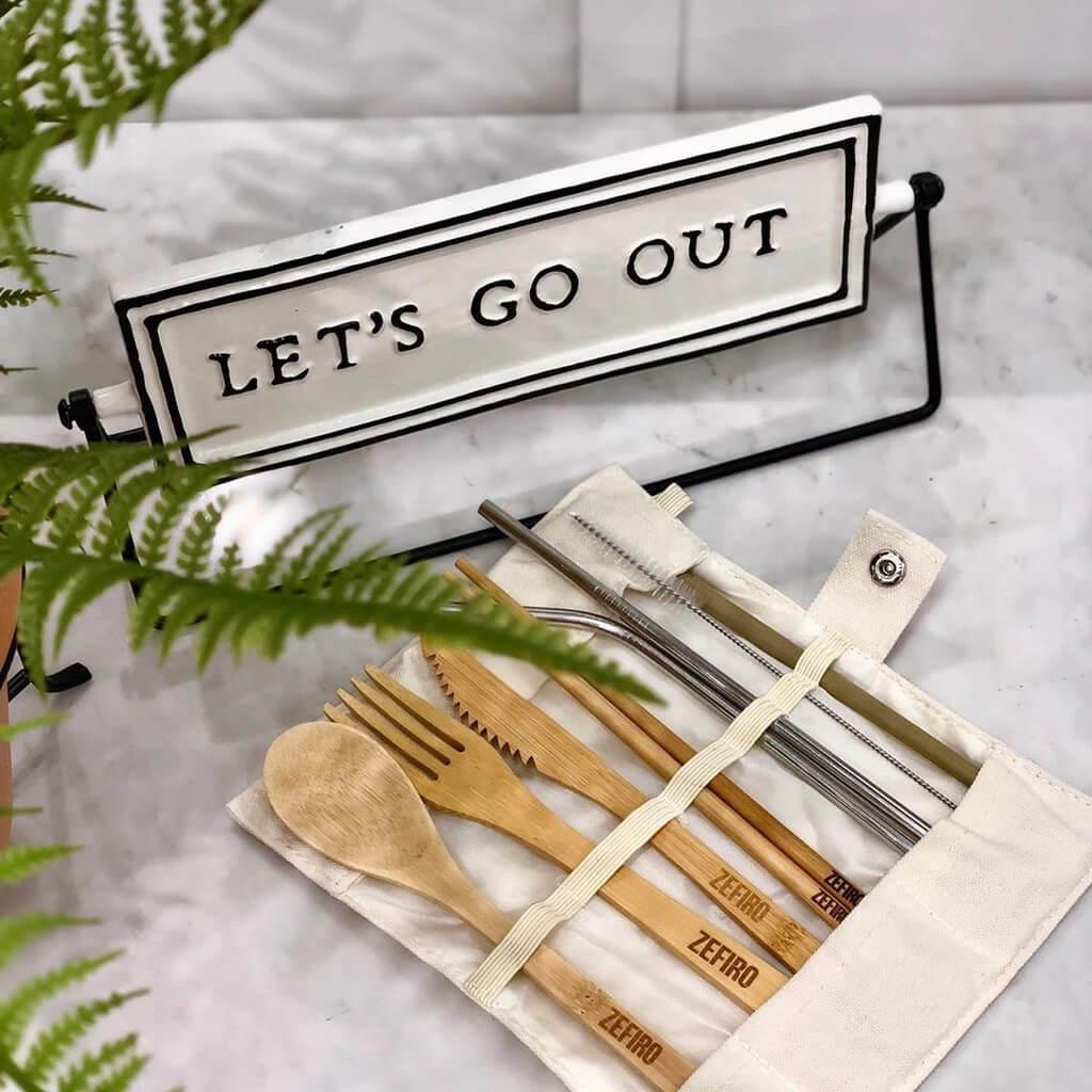 Eco-friendly bamboo cutlery set