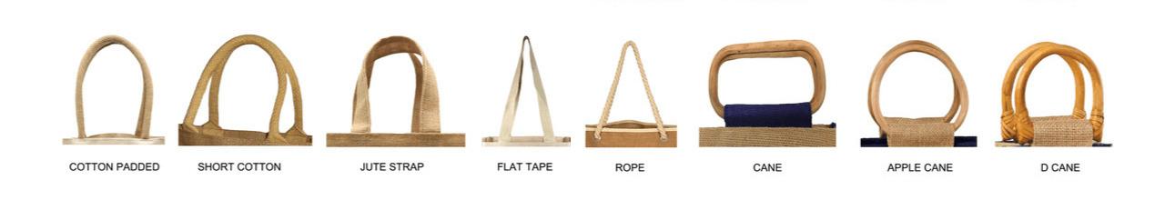 Jute bag handle types